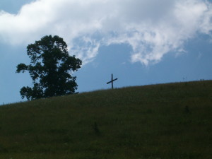 Cross on the hill at Safe House